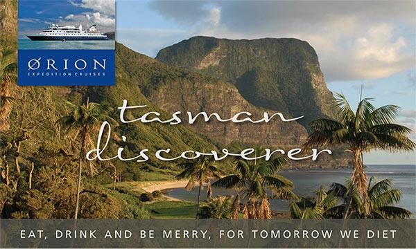 Orion Cruise Tasman adventure